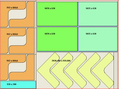 nesting software cutting diagram for sheetmetal glass and wood panel